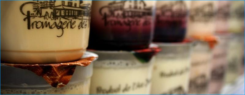 Yogurts fromagerie des Reussilles